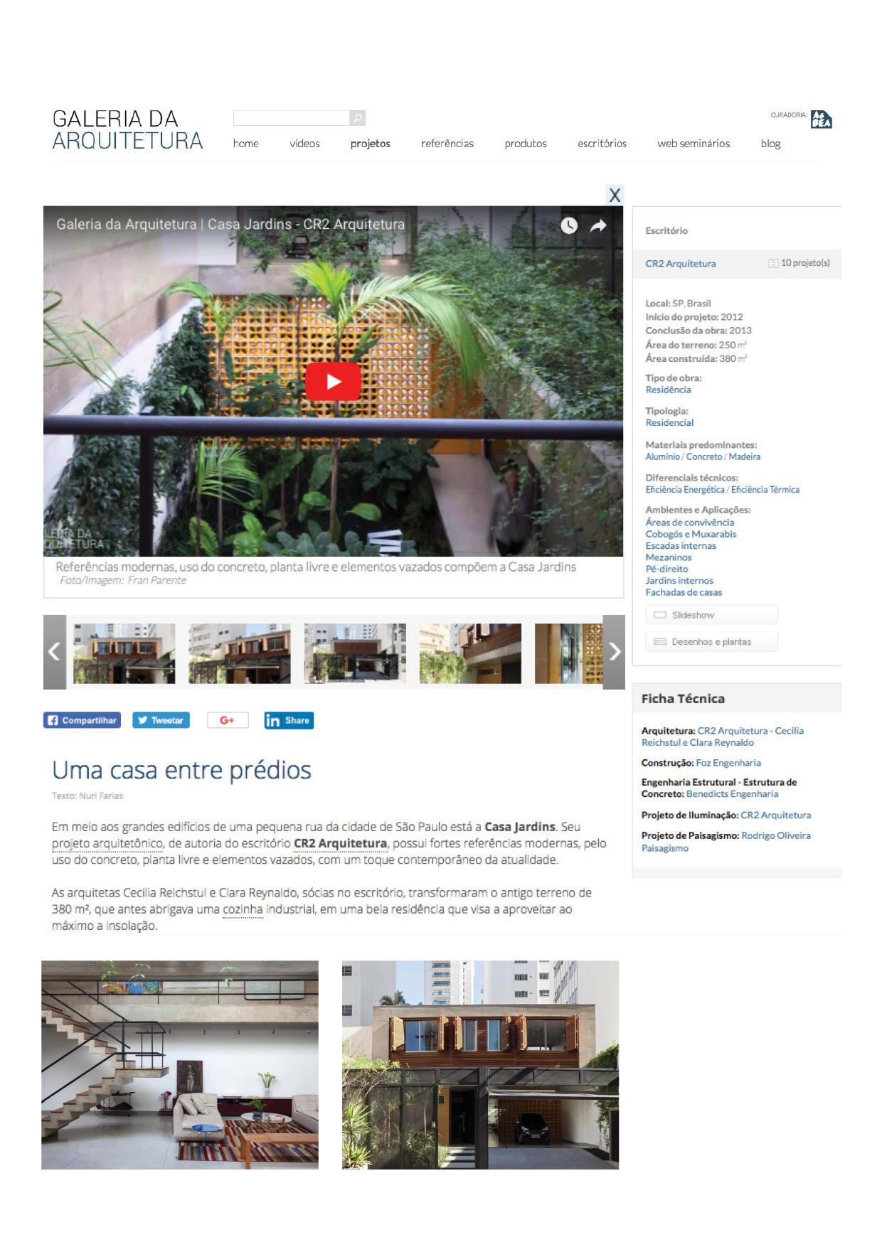 Galeria da Arquitetura | Casa Jardins - março 2018