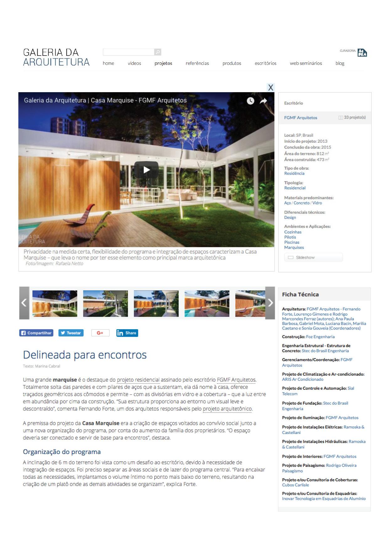 Galeria da Arquitetura | Casa Marquise - março 2018